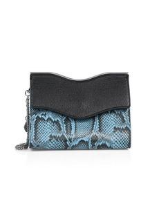 Rebecca Minkoff Dani Python-Embossed Leather & Leather Crossbody Bag