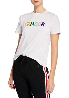 Rebecca Minkoff Delany L'Amour Cotton-Blend Graphic Tee