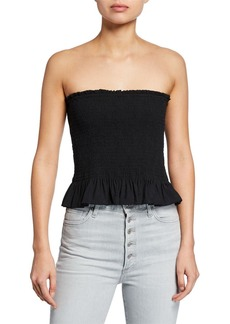 Rebecca Minkoff Dolly Strapless Smocked Top