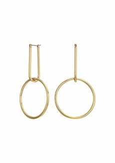 Rebecca Minkoff Double Link Hoop Earrings