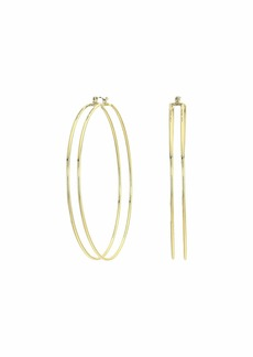 Rebecca Minkoff Double The Drama Hoop Earrings