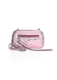 Rebecca Minkoff Double Zip Leather Crossbody Bag