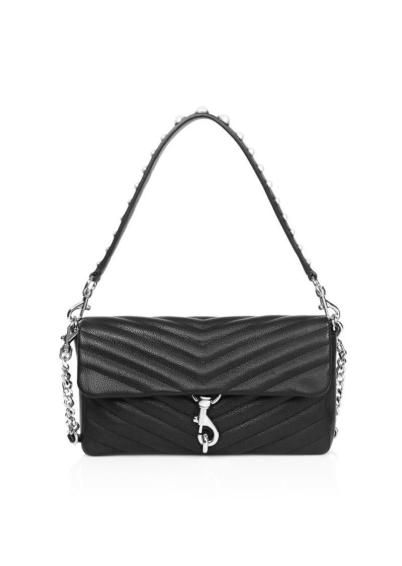 Edie Embellished Quilted Leather Shoulder Bag