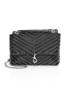 Rebecca Minkoff Edie Bead-Chain Leather Flap Shoulder Bag