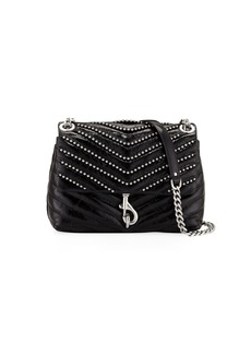 Rebecca Minkoff Edie Flap Studded Leather Crossbody Bag