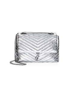 Rebecca Minkoff Edie Quilted Metallic Leather Shoulder Bag
