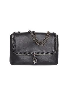 Rebecca Minkoff Edie Chain-Trimmed Leather Shoulder Bag