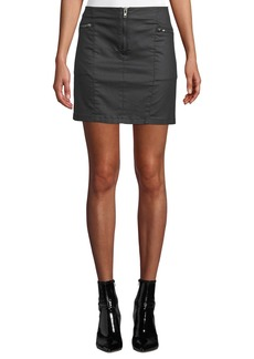 Rebecca Minkoff Emery Zip-Fly Denim Mini Skirt