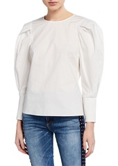 Rebecca Minkoff Emile Puff-Sleeve Top