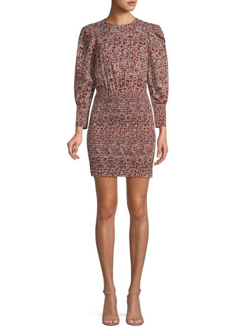 Rebecca Minkoff Floral Cotton Mini Dress