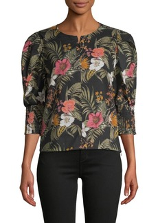 Rebecca Minkoff Floral Cotton Top