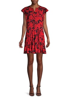 Rebecca Minkoff Floral-Print Mini Swing Dress