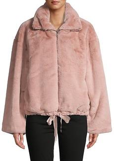 Rebecca Minkoff Full-Zip Faux Fur Jacket