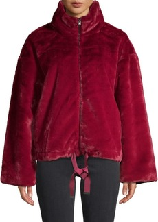 Rebecca Minkoff Full-Zip Faux Fur Jacket