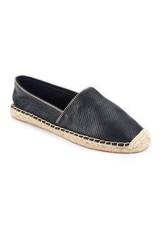 Rebecca Minkoff Gabi Perforated Suede Zip Espadrille Flats