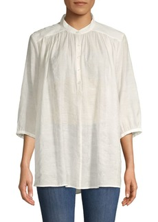 Rebecca Minkoff Gathered Button-Front Top