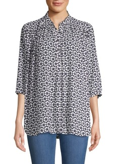 Rebecca Minkoff Gathered Floral Top