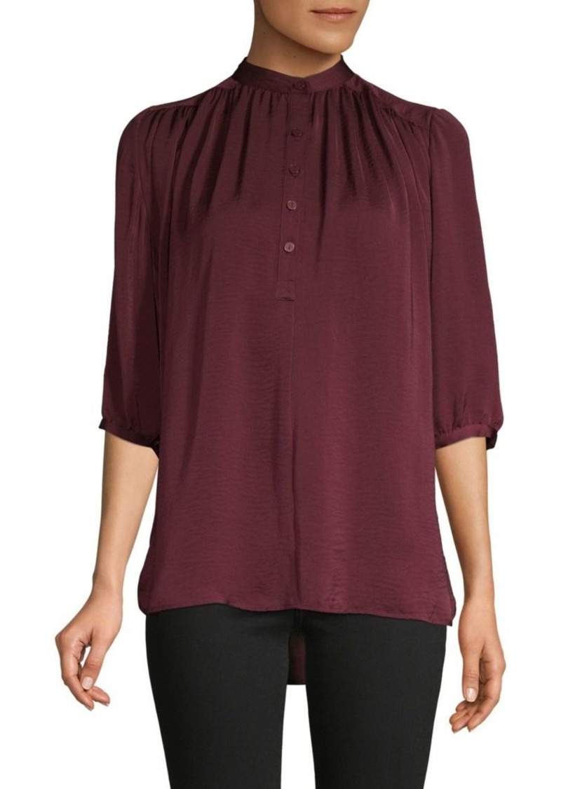 Rebecca Minkoff Gathered High Neck Top