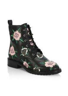 Rebecca Minkoff Gerry Embroidered Leather Booties