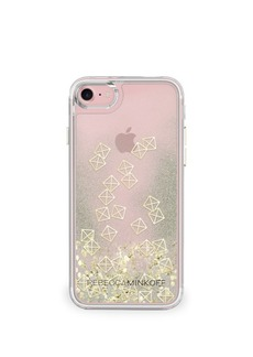 Rebecca Minkoff Gold Studs Glitterfall iPhone 7 Case