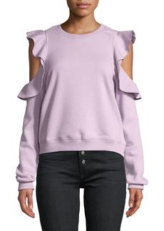 Rebecca Minkoff Gracie Ruffle Crewneck Sweatshirt