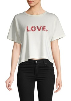 Rebecca Minkoff Graphic Cotton Cropped Top