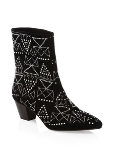 Rebecca Minkoff Hessania Studded Suede Boots