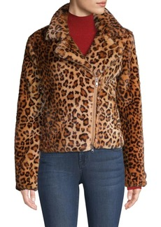 Rebecca Minkoff Hudson Leopard Faux Calf Hair Jacket