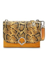 Rebecca Minkoff Isabel Large Snakeskin Embossed Shoulder Bag