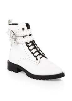 Rebecca Minkoff Jaiden Stud Leather Combat Boots