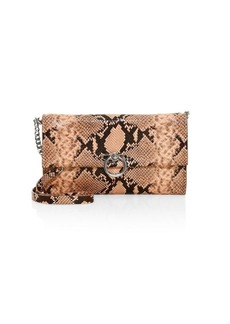 Rebecca Minkoff Jean Python-Embossed Leather Convertible Clutch