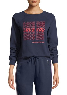 "Rebecca Minkoff Jennings ""Love You"" Sweatshirt"