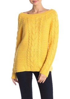 Rebecca Minkoff Juna Off-the-Shoulder Cable Knit Sweater