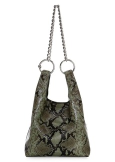 Rebecca Minkoff Karlie Chain Snakeskin-Embossed Leather Shopper