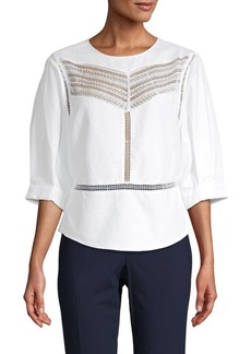 Rebecca Minkoff Lace Cotton-Blend Top