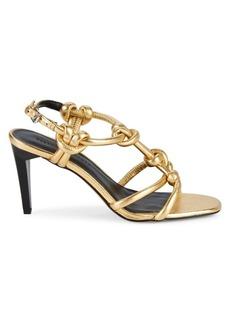Rebecca Minkoff Laciann Metallic Leather Heeled Sandals