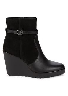 Rebecca Minkoff Leisel Suede & Leather Wedge Boots
