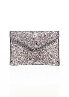 Rebecca Minkoff Leo Glitter Leather Envelope Clutch