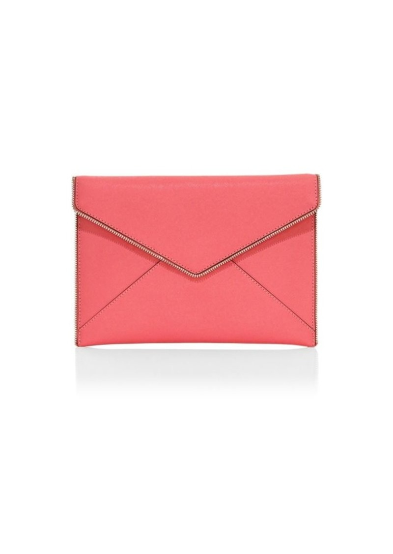 Rebecca Minkoff Leo Leather Envelope Clutch