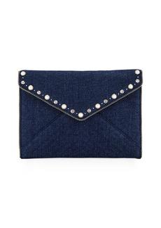 Rebecca Minkoff Leo Pearly Envelope Clutch Bag