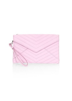 Rebecca Minkoff Leo Quilted Leather Envelope Clutch