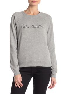 Rebecca Minkoff Light My Fire Embroidered Sweatshirt
