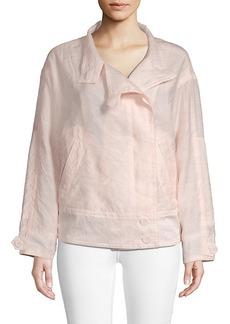 Rebecca Minkoff Long-Sleeve Cotton-Blend Jacket