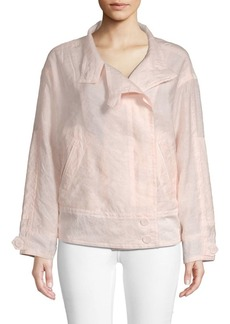 Rebecca Minkoff Long-Sleeve Cotton-Blend Jacket