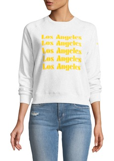 Rebecca Minkoff Los Angeles Cropped Graphic Sweatshirt