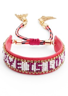 Rebecca Minkoff 'Love Is Love' Leather Friendship Bracelet
