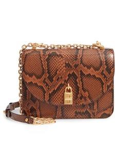 Rebecca Minkoff Love Too Snakeskin Embossed Leather Crossbody Bag
