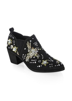 Rebecca Minkoff Lucy Embellished Leather Ankle Boots