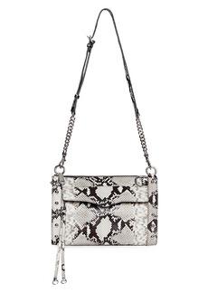 Rebecca Minkoff M.A.B. Studded Python-Embossed Leather Crossbody Bag