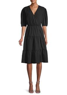 Rebecca Minkoff Mary Puff-Sleeve Flare Dress